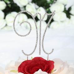 Monogrammme Chromé Mariage Décoration pour gâteaux