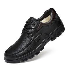 Men's Real Leather U-Tip Casual Men's Oxfords