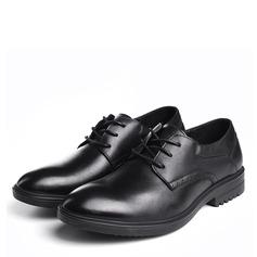 Homens Couro Verdadeiro Aplicação de renda Sapatos De Vestido Oxfords Masculinos