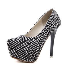 Frauen Stoff Stöckel Absatz Absatzschuhe Plateauschuh Geschlossene Zehe mit Andere Schuhe