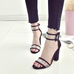 Mulheres Plástico Salto robusto Sandálias sapatos