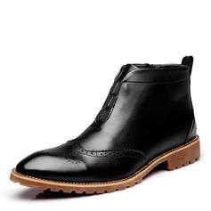 Menn Microfiber Lær Chelsea Avslappet Boots til herre