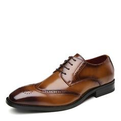 Menn Egte Lær Brogue Avslappet Pen sko Oxfordsko til herre