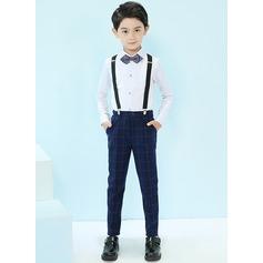 Chlapci 4 kusy Elegantní Obleky pro nosiče prstenů /Page Boy Obleky S Košile Kalhoty smyčka Suspender