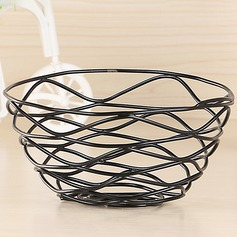 Storage Basket Iron Simple Beautiful Table Centerpieces