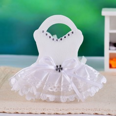 Diseño del Vestido de Boda Bolsos de regalos con Encajes
