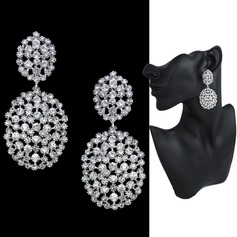 Beautiful Alloy/Rhinestones Ladies' Earrings (011122099)