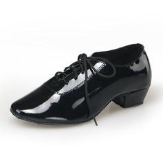 Hommes Similicuir Escarpins Tennis Latin Salle de bal Pratique Chaussures de Caractère avec Dentelle Chaussures de danse