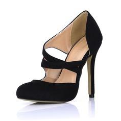 Suède Talon stiletto Escarpins Bout fermé chaussures