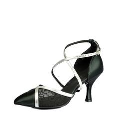 De mujer Satén Tacones Sandalias Danza latina Estilo Moderno Sala de Baile Salsa Tango Zapatos de danza