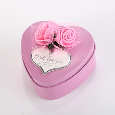 Sweet Love/Classic Heart-shaped Favor Tin With Flowers