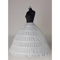 Women Tulle Netting/Satin Floor-length 4 Tiers Bustle (037117067)