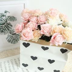 """Vigne Rose/Simple/Style Classique """"Belle Fleur"""" Tissu Fleurs artificielles (lot de 4)"""