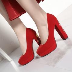De mujer Ante Tacón ancho Salón Plataforma zapatos