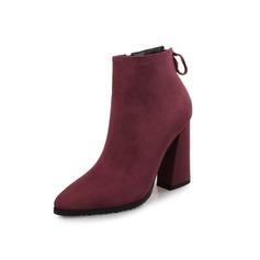 De mujer Ante Tacón ancho Plataforma Botas al tobillo zapatos