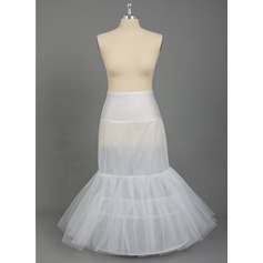 Women Nylon/Tulle Netting Floor-length 2 Tiers PLUS SIZE Petticoats (037067027)