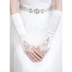 Satin Elbow Length Bridal Gloves (014072506)