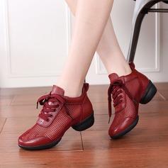 Mulheres Couro Mesh Tênnis Moderno Ténis Treino Sapatos de dança (053201969)
