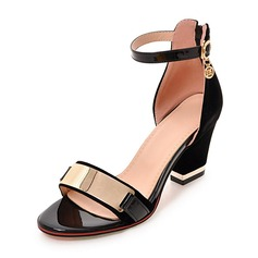 Women's Suede Chunky Heel Sandals Pumps Peep Toe With Buckle shoes