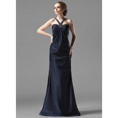 Sheath/Column Sweetheart Floor-Length Charmeuse Evening Dress With Ruffle Beading