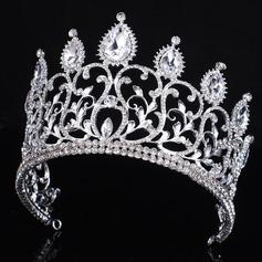 Elegant Legering/Crystal med Crystal Damene ' Håret Smykker