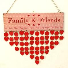 Clássico/Nice/Projeto do coração Nice/Lovely/Bonito De madeira Decorações de Casamentos (Vendido em uma única peça)