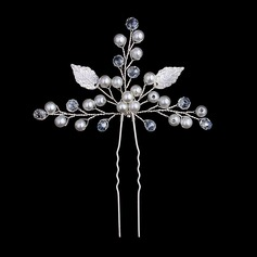 Crystal/Freshwater Pearl Hairpins (Set of 3)