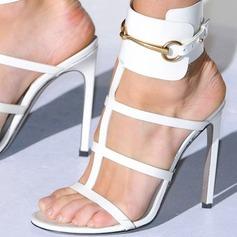 Kvinnor PU Stilettklack Sandaler Pumps med Spänne skor