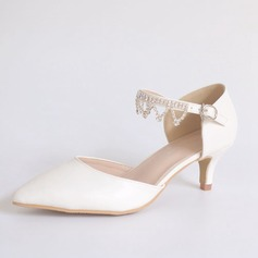 Women's Leatherette Low Heel Closed Toe With Tassel