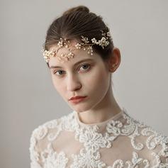 Dame Glamourøse Imiteret Pearl Pandebånd med Venetiansk Perle (Sælges i et enkelt stykke)
