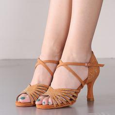 Женщины Замша На каблуках Сандалии Латино Танец живота Обувь для танцев