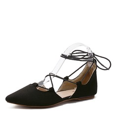 Women's Suede Flats Closed Toe shoes