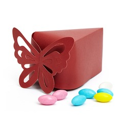 Butterfly Top Pyramid Favor Boxes (Set of 10)