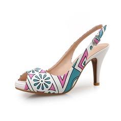 Cuero Tacón stilettos Salón Encaje zapatos