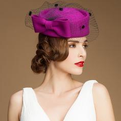 Damen Elegant Wollen mit Bowknot Kopfschmuck