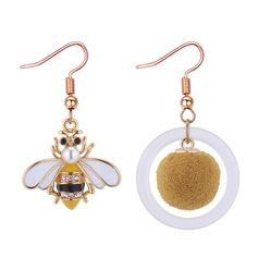 Elegante Aleación Diamantes de imitación La perla de faux Acrílico con Perlas de imitación Rhinestone De mujer Pendientes de la manera