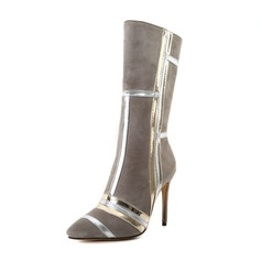 Women's Leatherette Stiletto Heel Boots shoes