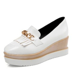 Women's Leatherette Flats Platform With Tassel shoes