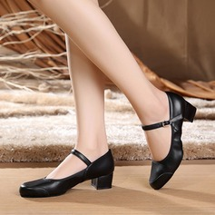 Women's Real Leather Heels Pumps Latin Modern Dance Shoes