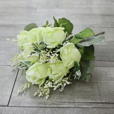 Bonito Seda artificiais Buquês de noiva/Buquês da nama de honra -