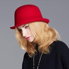 Bayanlar Şık/Nefis/bağbozumu Yün Bowler / Cloche Hat