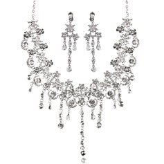 модное сплав с горный хрусталь женские Комплекты ювелирных изделий