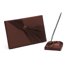 Chocolate Sash Guestbook & Pen Set