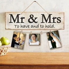 "Enkel/Klassisk stil/""Mr. & Mrs."" Fin/Pen Tre Wedding Sign"