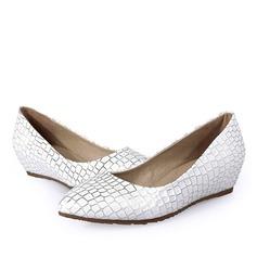 De mujer Cuero Tipo de tacón Planos Cerrados con Estampado de animales zapatos