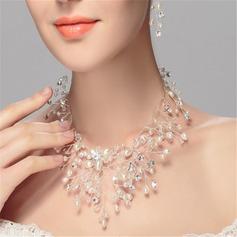 Elegante Diamantes de imitación/La perla de faux con Rhinestone/La perla de faux Señoras' Collares