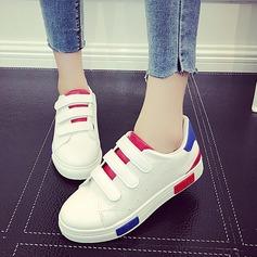 Donna PU Senza tacco Ballerine con Velcro scarpe