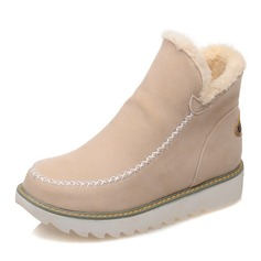 Big Size Pure Color Warm Fur Forro de invierno Botines de nieve para mujeres