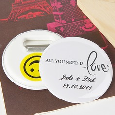 "Personalized ""All You Need is Love"" Plastic Bottle Opener/Fridge Magnet (Set of 5)"