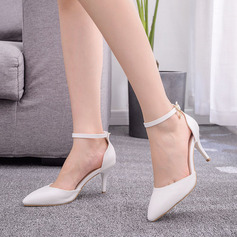Kinderen Kunstleer Stiletto Heel Closed Toe Pumps Sandalen Mary Jane